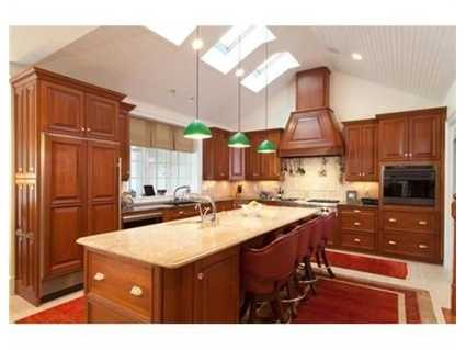 This stunning colonial has a showcase kitchen.