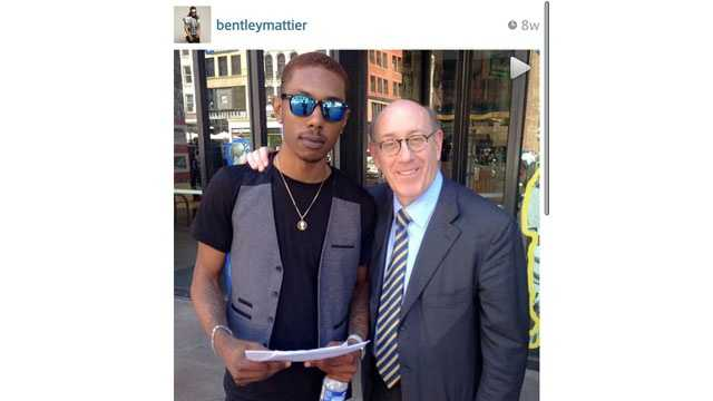 "Branden ""Bentley"" Mattier pictured with One Fund administrator Ken Feinberg."