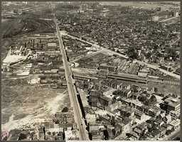 This aerial view is of Dorchester Avenue and Old Colony Avenue in 1925. Though the neighborhood has gone through some very obvious physical changes, there are many cultural changes that have taken place, as well.