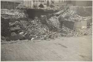Demolished South Boston tenements across the street from 228 W. 4th St. in 1934. Demolition at this point was incomplete.