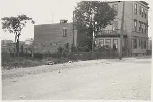 The only large building on the site of the proposed federal housing project in 1935