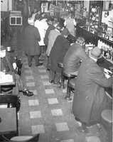 Crowded bar in South Boston in 1969