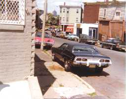 Tom Cirignano's neighborhood in the 1980s. The barroom, shown down at the far intersection, was machine-gunned only minutes after Cirigano left it one Saturday afternoon, is now an apartment residence.