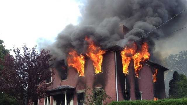 Man in police custody after two-alarm Uxbridge fire