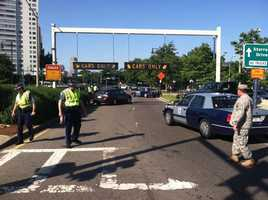 Part of the increased security around the area includes the closure of footbridges and Storrow Drive.