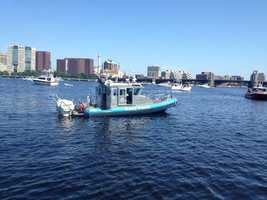 Security measures are also being taken on the water.