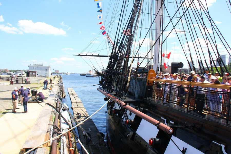 The USS Constitution set sail for a three-hour tour of Boston Harbor in celebration of America's Independence Day July 4.