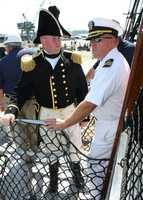 The July 4th sail marked the final harbor cruise at the helm of 'Old Ironsides' for Cmdr. Matt Bonner, Constitution's 72nd commanding officer, who is scheduled to transfer command of America's Ship of State to Cmdr. Sean Kearns on July 26.