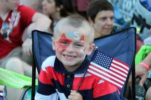 Patrick, of Wareham, with his toothless, patriotic smile.