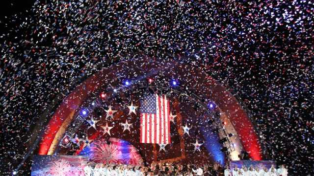 Confetti at the conclusion of the concert.