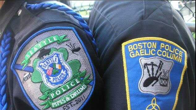 The Boston Police Gaelic Column Pipes & Drums group will perform with members of the Seattle Police Pipes & Drums group in Seattle.