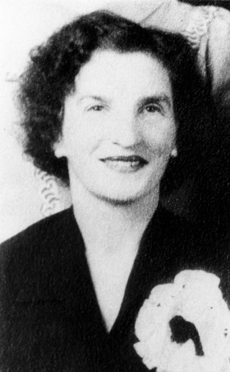 Mrs. Goldie Fine, 63, was found strangled with a stocking in the bedroom of her Norwood, Mass. home, April 13, 1964. She was the 12th victim of unsolved strangling's of women in eastern Massachusetts in less than 2 years.