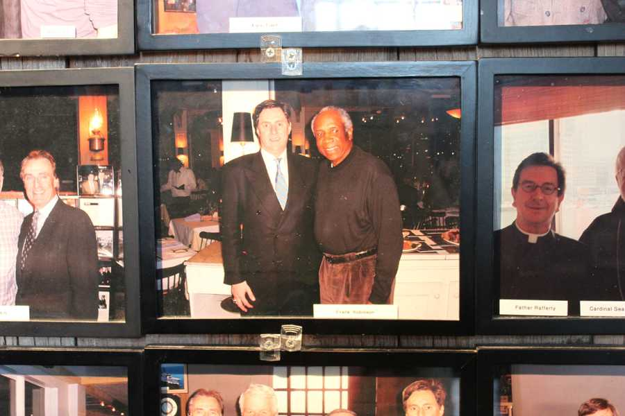 American former Major League Baseball player Frank Robinson is one of many athletes who visited Anthony's Pier 4