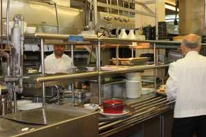 Anthony's Pier 4 cooks worked hard to prepare meals in the kitchen