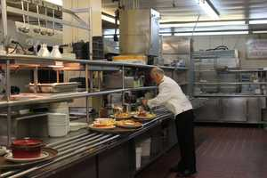 The kitchen staff paid careful attention to the appearance of their dishes