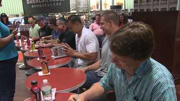 """The family was in town for a book signing. The """"Gronk"""" family has released a new book called """"Growing Up Gronk"""""""