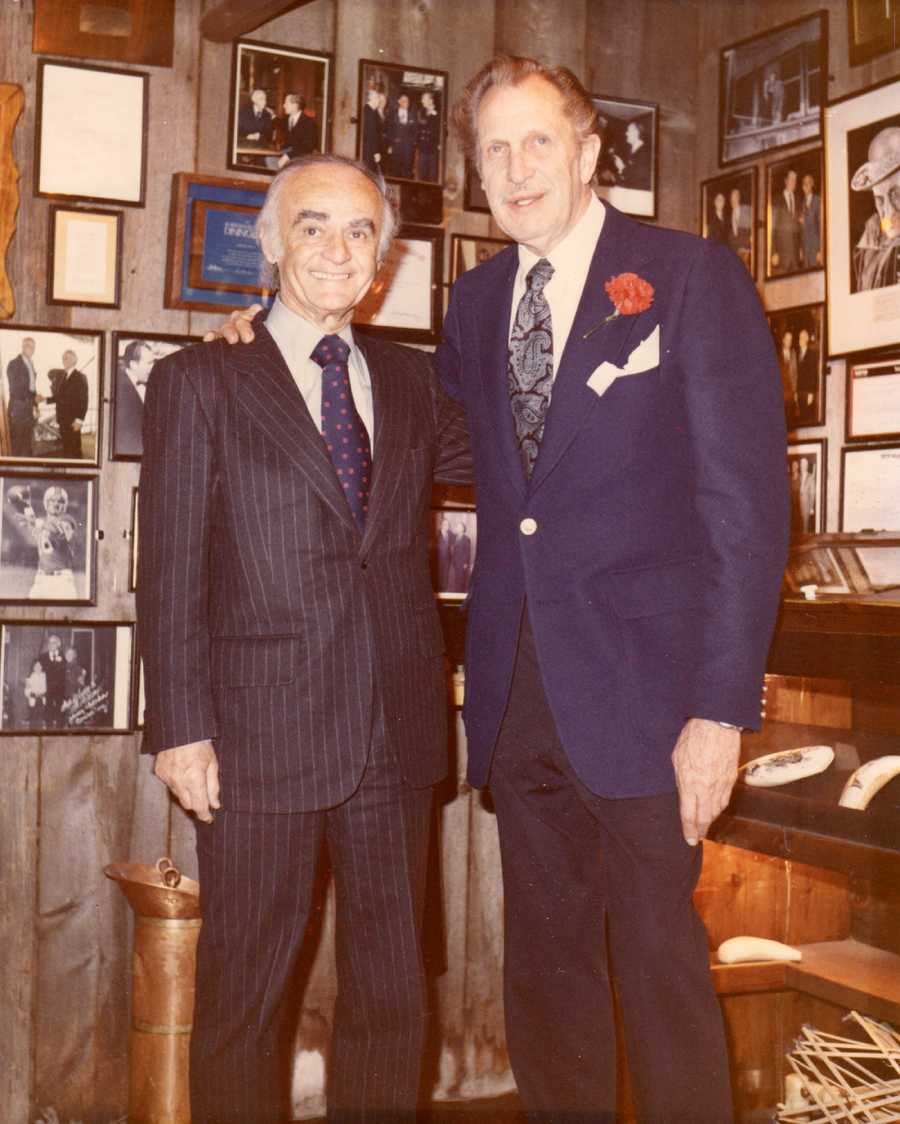 Actor Vincent Price visited Anthony's Pier 4