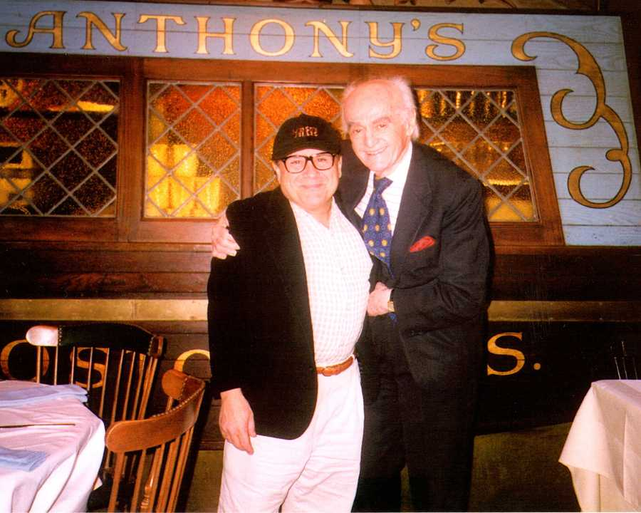 Anthony Athanas and Danny DeVito posed for a picture together