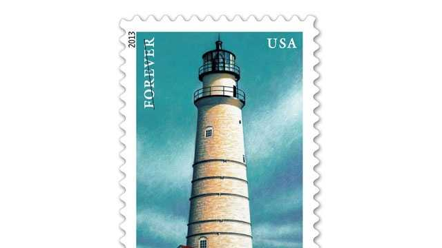 The Boston Harbor Lighthouse Forever Stamp is one of five that feature New England lighthouses.