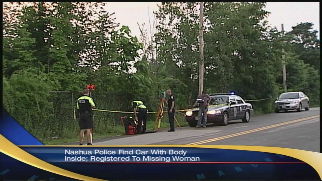 Nashua police say they found a body in a car Saturday. That car is registered to a local missing woman.