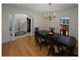 Well executed design with rich architectural detail and extra closets.