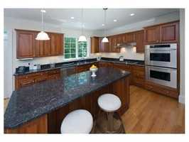 The cook's kitchen has high-end appliances.