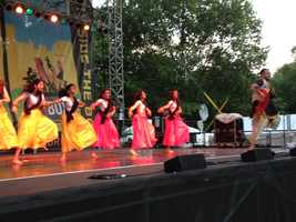 Nazar interactive Bollywood performance - dancers instructed the audience during the performance.