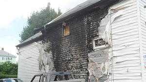 Truck, house arson