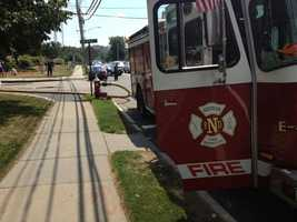 Nearby Needham Street was blocked to all traffic for part of Tuesday afternoon.