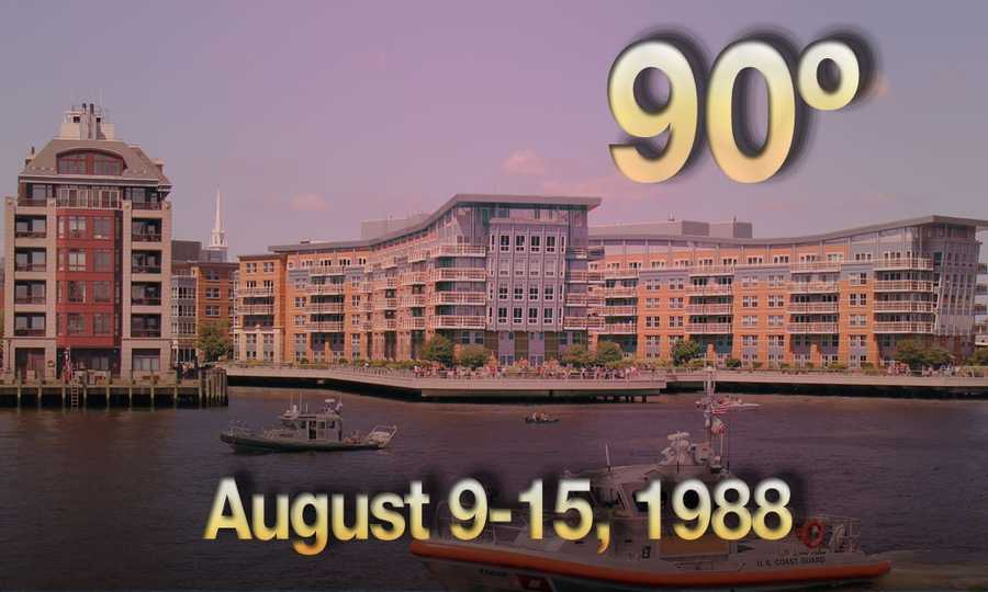 06) August 9 - 15, 1988 - The dog days of August proved to be true&#x3B; Boston went through a seven day heat wave.