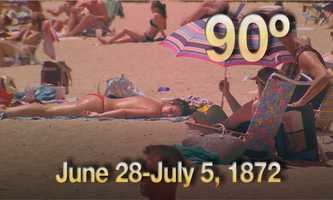 05) June 28 - July 5, 1872 - From a time when weather records were just starting to be kept.Boston experienced eight days of temperatures above 90 degrees.