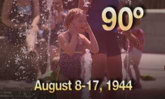 04) August 8 - 17, 1944 - Eight days of heat above 90 degrees in Boston.