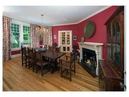 An elegant dining room.