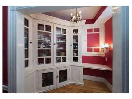 A custom china cabinet.