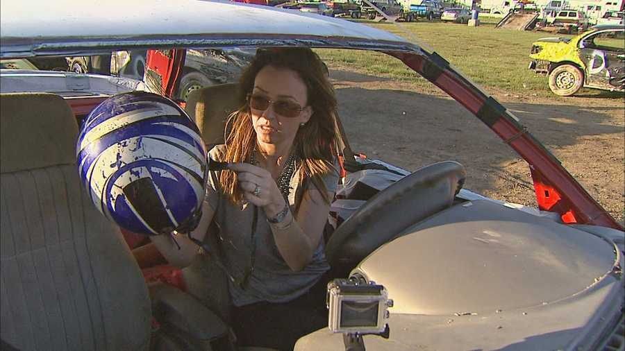 The drivers are fierce. There's a $5,000 jackpot for the overall demolition derby winner at the end of the week.
