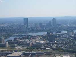 Boston skyline with a view of the Longfellow Bridge