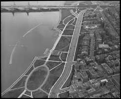 Aerial view of the Esplanade and the Longfellow Bridge in 1935