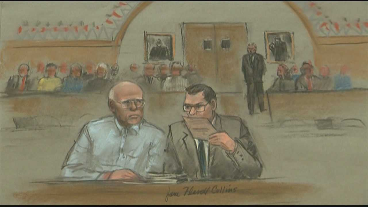 "Stephen ""The Rifleman"" Flemmi glared at James ""Whitey"" Bulger in the courtroom, and the two men snarled what sounded like obscenities at each other."
