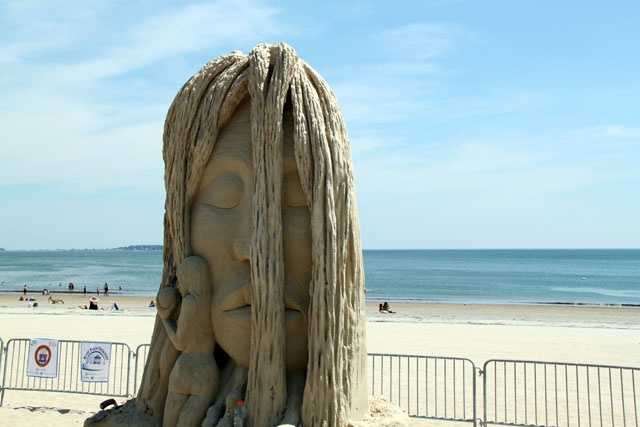 Doubleday has been sculpting on beaches since 1995.