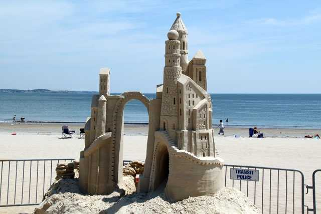 The festival is held on Revere Beach between the bandstand and the MBTA stop.