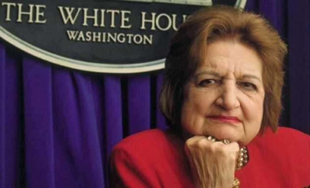 Covering 10 presidents over five decades, Helen Thomas aged into a legend. She was the only reporter with her name inscribed on a chair in the White House briefing room — her own front row seat to history. Starting as a copy girl in 1943, when women were considered unfit for serious reporting, Thomas rose to bureau chief.  (August 4, 1920 – July 20, 2013)