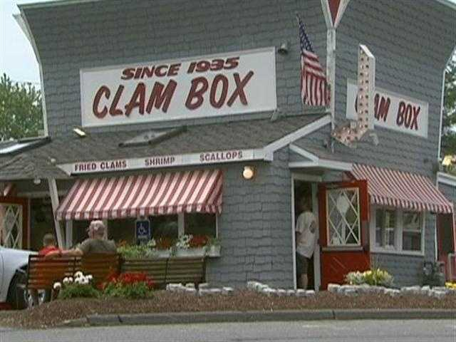 1) The Clam Box, Ipswich, Mass. was rated by our Facebook fans as the best spot for fried clams in New England.