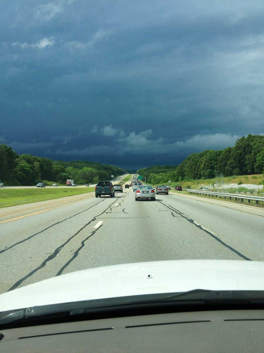 Dark rolling clouds in Burlington.