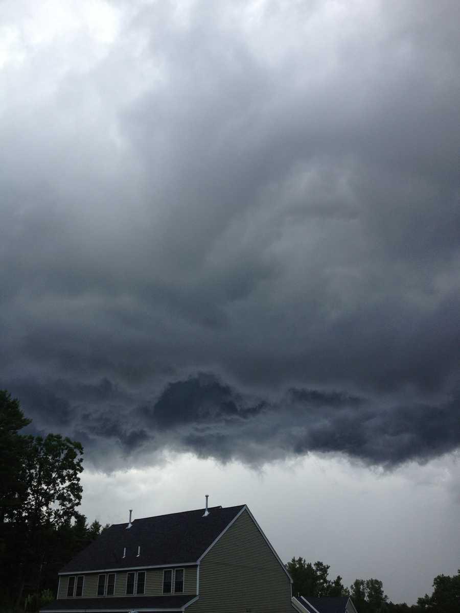 Storm clouds in Berlin.