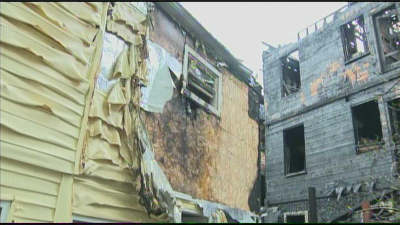 Fire crews battled a large fire in a Somerville neighborhood on Thursday.