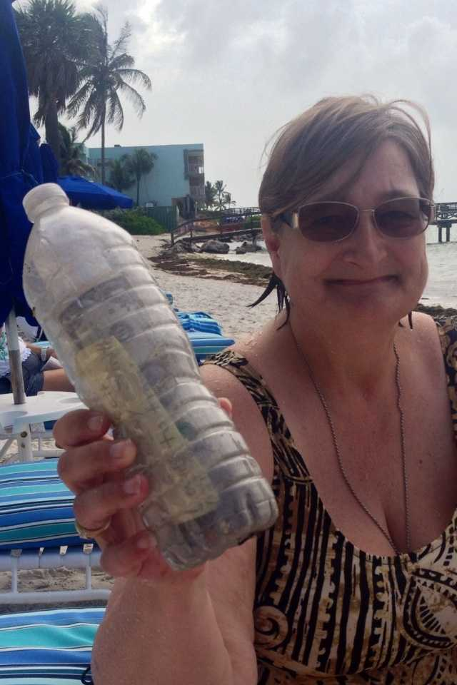 On Sunday, Judi Sydney, an owner of Glunz Ocean Beach Hotel and Resort in Key Colony Beach, Fla., was picking up debris on the beach when she found the bottle.