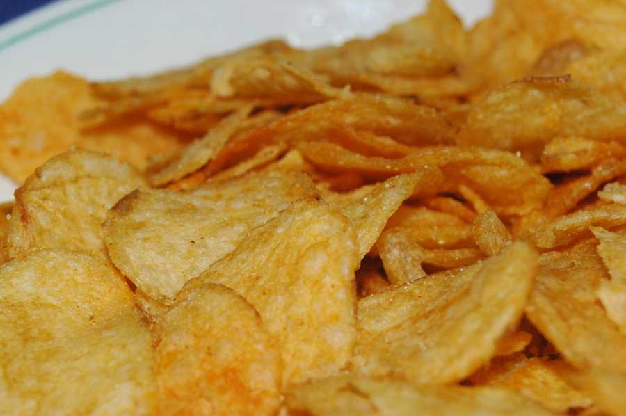 Such as french fries, potato chips or other high-fat snack foods.