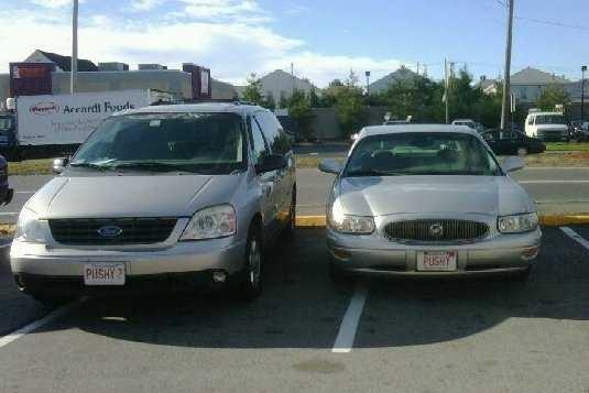 PUSHY and PUSHY2 - don't park near these cars!