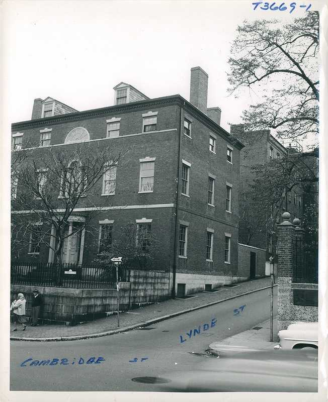 View of Harrison Gray Otis House from Cambridge Street in September 1954.
