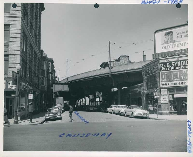 Causeway and Lowell Street about 1958